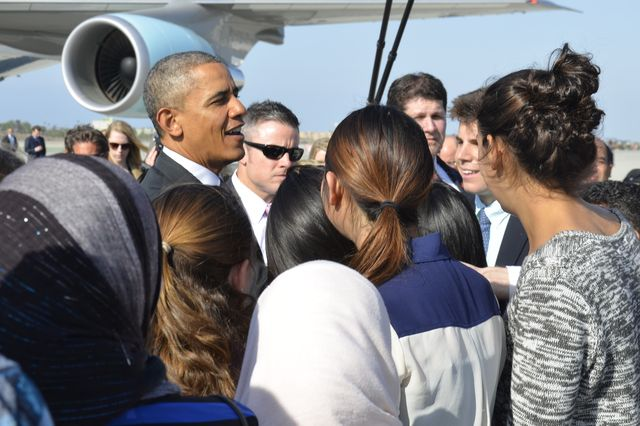 Fiat Lux students meet President Obama