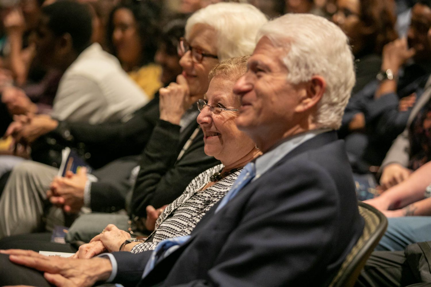 Chancellor Gene Block and Mrs. Carol Block in the audience.